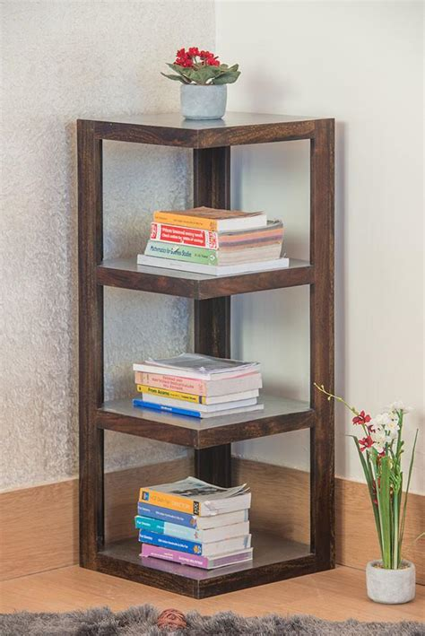 Buy Corner Bookcase by Buy Solid Wood Corner Bookcase New Launches
