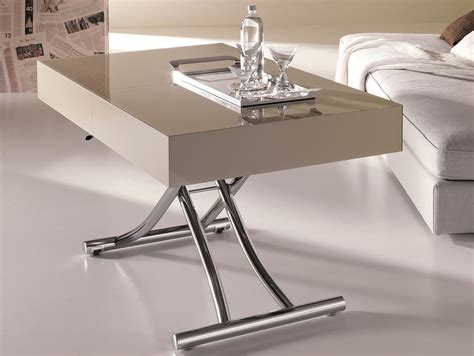 Square White Trundle Adjustable Height Coffee Table Ikea