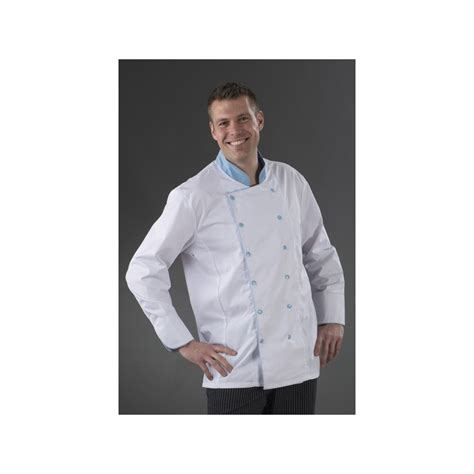 veste de cuisine pas chere veste de cuisine karl boutonnage ciel my tablier