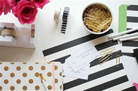 Black And Gold Desk Accessories All That Glitters Is
