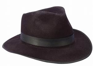 Black Felt Fedora Gangster Hat - Caufields com