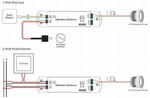 2 Channels Constant Current Dali 50w Dimmable Led Driver