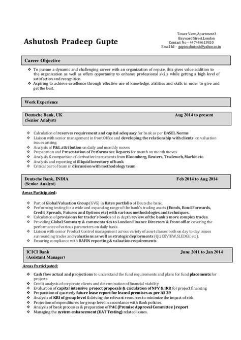 cfa level 1 resume 28 images ashutosh gupte resume