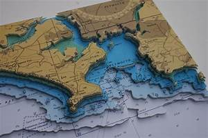 Pin On Framed 3d Nautical Relief Charts