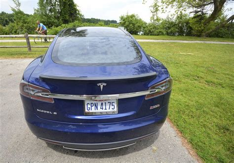 Behind The Wheel Of A Tesla Electric Car