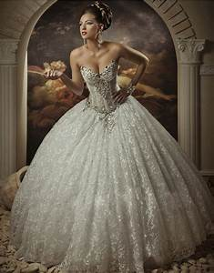 2014 new custom sweetheart sleeveless luxury beaded With princess ball gown wedding dresses with bling