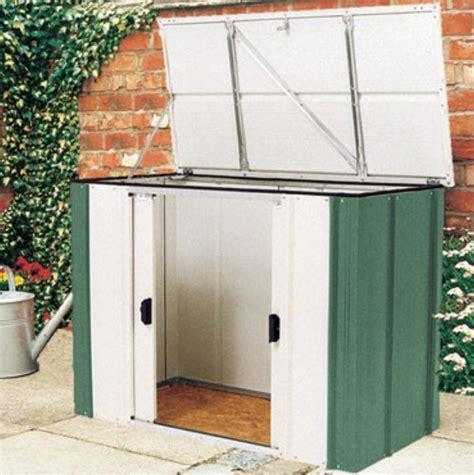 lockable metal garden storage box