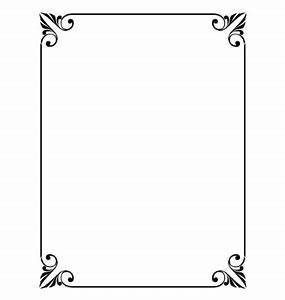 Simple ornamental decorative frame vector | Formal ...