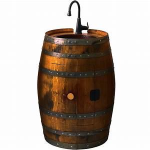 Reclaimed Wine Barrel Bar Sink - So That's Cool