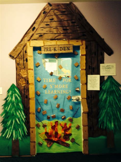 camping theme door bulletin boards   ideas