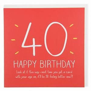 Feeling better now 40th birthday card - Birthday Cards