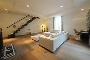 attrayant quelle peinture pour escalier bois 11 With parquet flottant salon