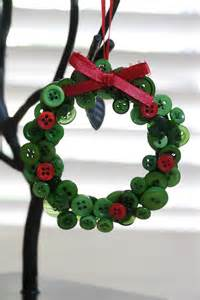 Button Wreath Ornament Craft