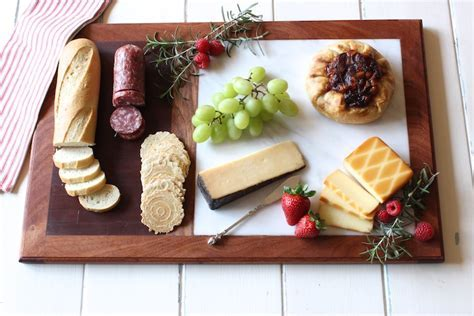 Cutting Board w/ Marble Cheese Plate { by Rogue Engineer }