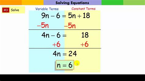 solving multi step equations
