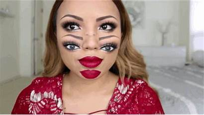 Makeup Halloween Double Looks Trippy Vision Face