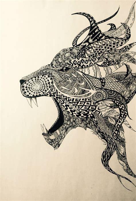 zentangle animals images  pinterest doodles