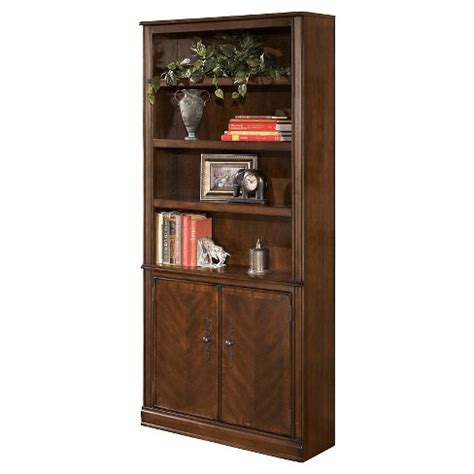 Hamlyn Bookcase by Hamlyn Large Door Bookcase Medium Brown Signature