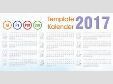 Download Template Kalender 2017 Indonesia Corel draw cdr
