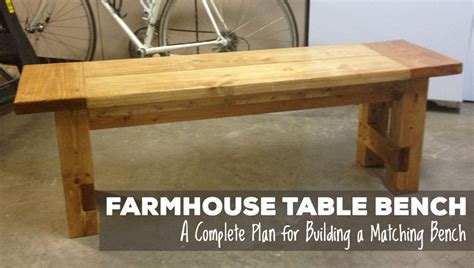 Kitchen Table Bench Plans Free by Free Plans For A Rustic Farmhouse Table Bench A