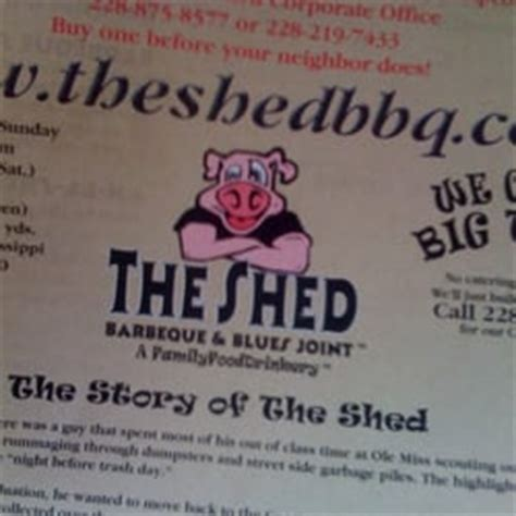 the shed barbeque blues joint ocean springs ms