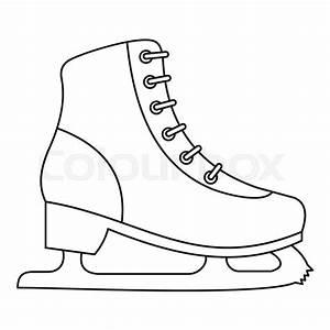 Ice Skate Icon  Outline Illustration Of Ice Skate Vector