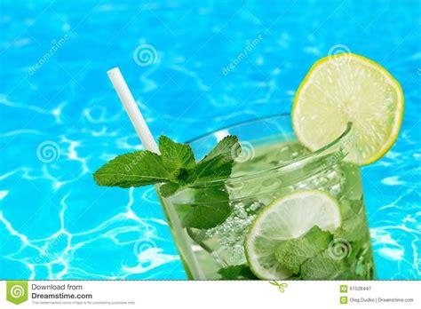 Cocktail Stock Image. Image Of Banana, Mint, Melon, Pool