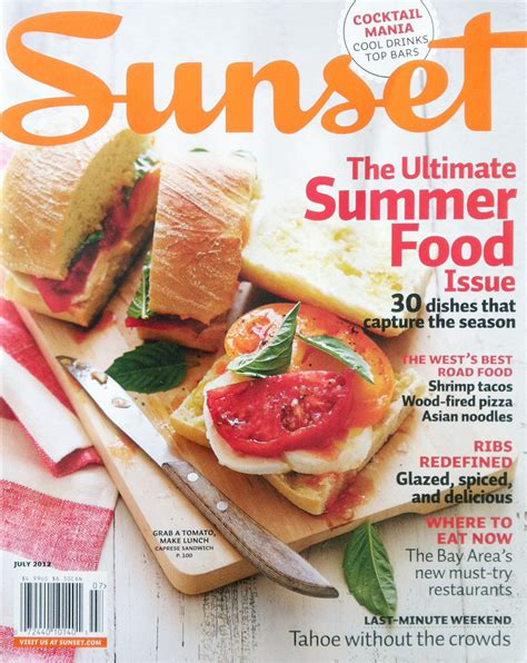 magazines cuisine sunset magazine summer cover annabelle breakey