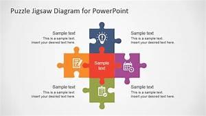 Free Flat Puzzle Jigsaw Powerpoint Diagram