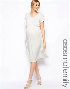 robe mi longue grossesse pour mariage tres fluide blanche With robe mi longue pour mariage