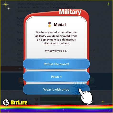 bitlife simulating military fun veteran hug sacrifice forget heroes thank extra give let happy bitlifeapp comments
