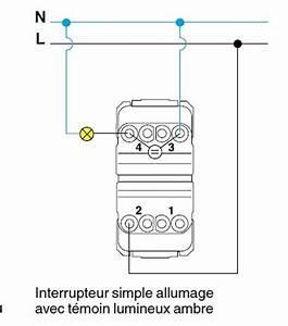 Branchement Interrupteur Temoin Lumineux Legrand : conseils pour branchement va et vient avec t moin ~ Dailycaller-alerts.com Idées de Décoration