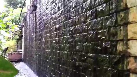 water on walls natural stone water wall youtube