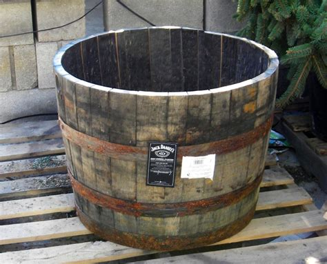 whiskey barrel planter the high and the low vintage wood planters 171 devereux et