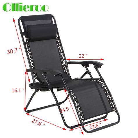 ollieroo zero gravity folding chairs recliner outdoor