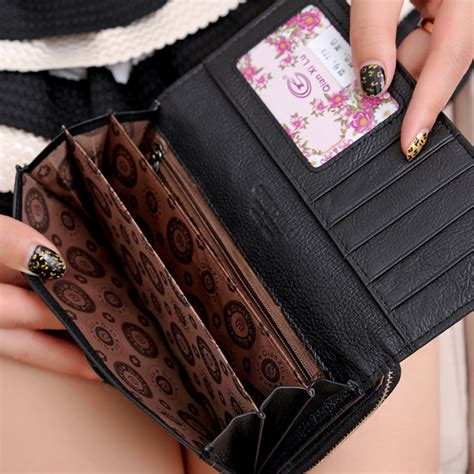 3 fold genuine leather wallets coin pocket