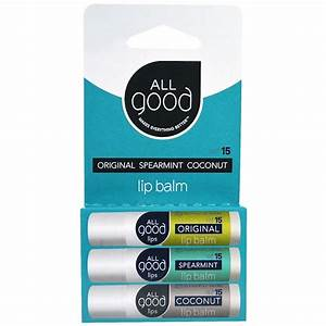 all good products lip balm spf 15 original spearmint With good lip balms