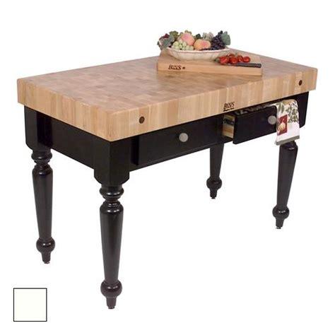 kitchen work tables islands boos cucr05 al 48 quot alabaster maple rustica table 6576