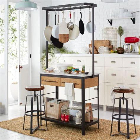 kitchen island with pot rack marble kitchen island pot rack elm