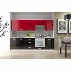 Cuisine Complète Pas Cher : cuisine pas cher toro bi color noir rouge achat vente ~ Melissatoandfro.com Idées de Décoration