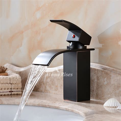waterfall bathroom faucet black oil rubbed bronze