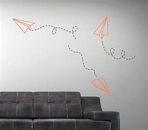 paper airplane vinyl wall decal children boy nursery With nice wall decals for college dorms