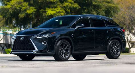 lexus rx black custom wheels help this lexus rx transition to the side