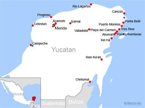 yucatan foto karte mexiko bildergaleriefotogalerie