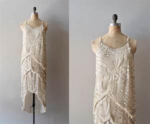1920s dress / beaded 20s dress / Diaphanous Star dress
