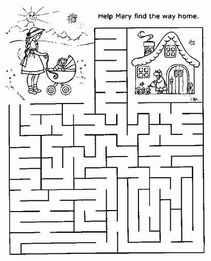 Easy Maze Printable Mazes Coloring Pages