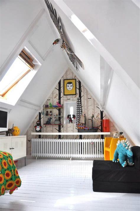 Kinderzimmer Ideen Dachboden by Kinderzimmer Mit Dachschr 228 Ge 29 Tolle Inspirationen F 252 R Sie