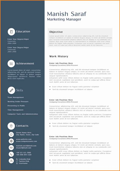 Marketing Cv by 11 Cv Marketing Word Theorynpractice