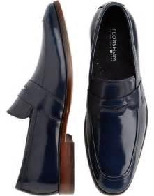 Navy Blue Men's Dress Shoes Loafers