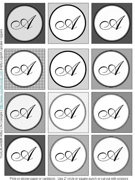monogram printable images gallery category page